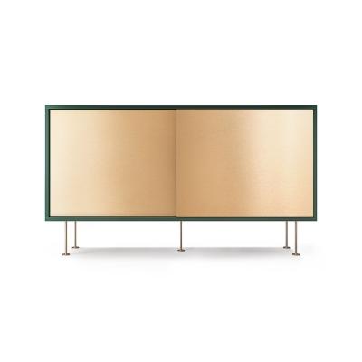 Vogue sideboard 136l, grön/2B/mässing