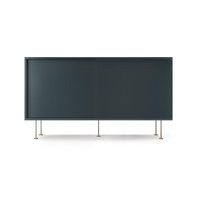 Vogue sideboard 136l, grå/2G/mässing