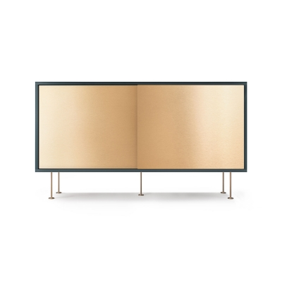 Vogue sideboard 136l, grå/2B/mässing