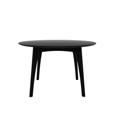 Osso matbord runt, svart