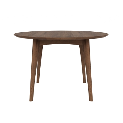 Osso matbord runt, valnöt