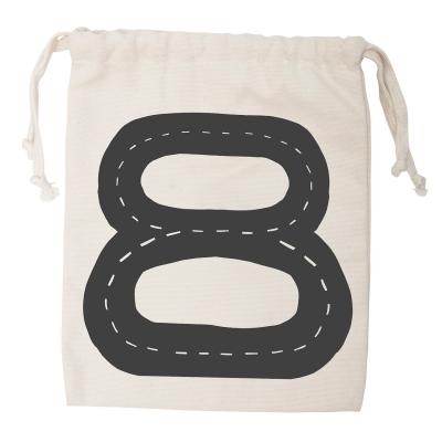 Bilbana tygpåse S, svart/vit