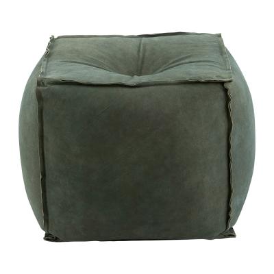 Sittpuff mocka, grå/grön