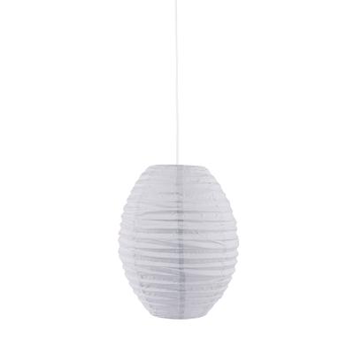 Oval lampskärm, grå