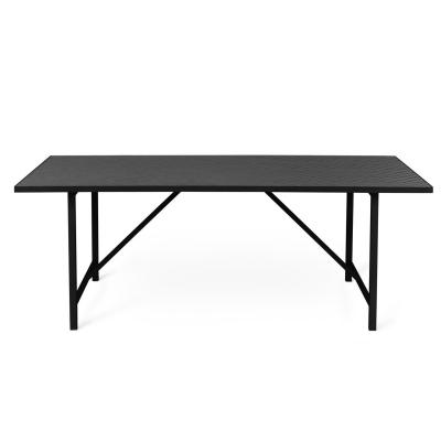 Herringbone Tile matbord, svart