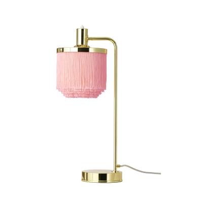 Fringe bordslampa, pale pink