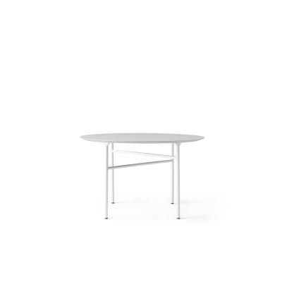 Snaregade matbord Ø120, ljusgrå linoleum
