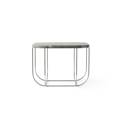 Cage soffbord, krom/grå marmor
