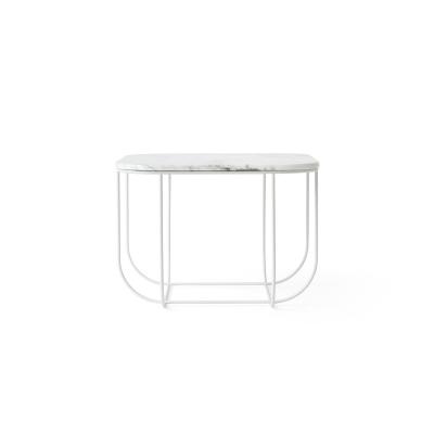 Cage soffbord, vit/vit marmor