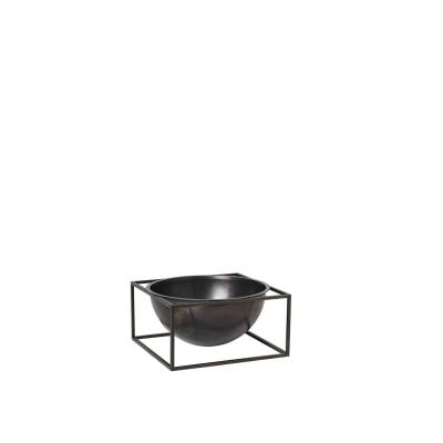 Kubus Centerpiece skål L, bränd koppar