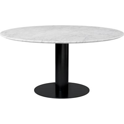 Gubi 2.0 matbord Ø150, Bianco Carrara marmor
