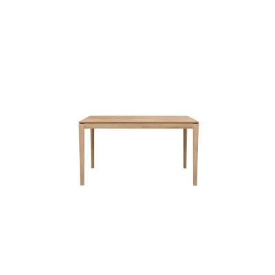 Bok förlängningsbart bord 140cm, massiv ek