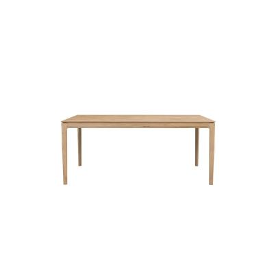 Bok förlängningsbart bord 180cm, massiv ek