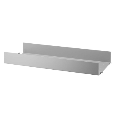 String metallhyllplan hög kant 1-p 58x20, grå