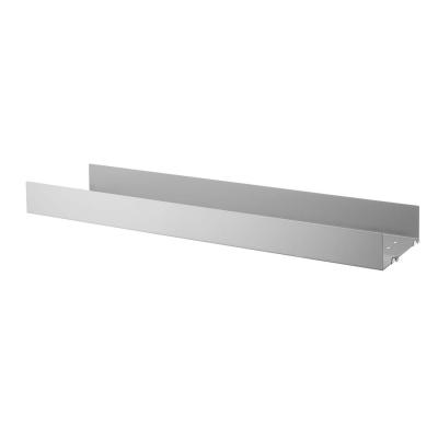 String metallhyllplan hög kant 1-p 78x20, grå