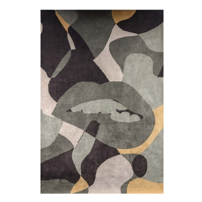 Abstracto matta, olive/multi