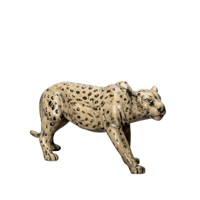 Leopard dekoration, brun/svart