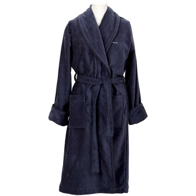 Premium Velour morgonrock XS, sateen blue
