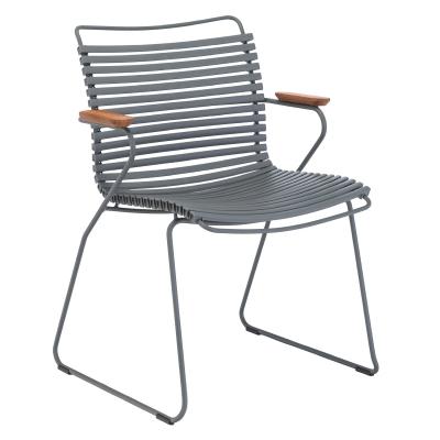 Click matstol, mörkgrå/grå