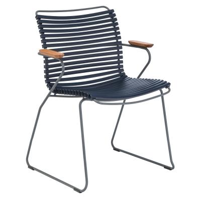 Click matstol, mörkblå/grå