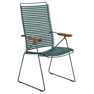 Click matstol ställbar, pine green/grå