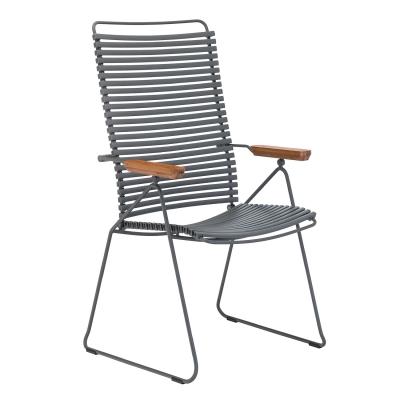 Click matstol ställbar, mörkgrå/grå