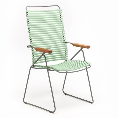 Click matstol ställbar, dusty green/grå