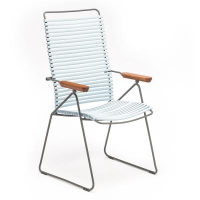 Click matstol ställbar, dusty light blue/grå