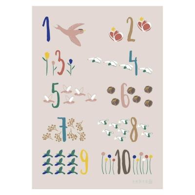 Poster, singing birds