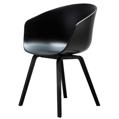 About a Chair 22, svart/svarta ben