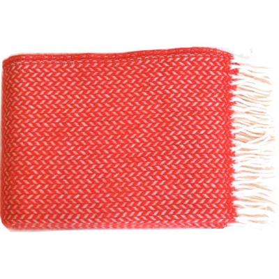 Bild av Polka ullpläd, röd/vit