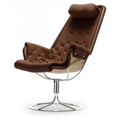 Jetson fåtölj Classic Soft läder brun