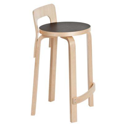 Bild av K 65 barstol, svart linoleum