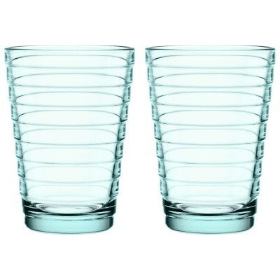 Aino Aalto glas vattengrön 33 cl 2-pack