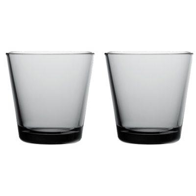 Kartio drickglas grå 2-pack