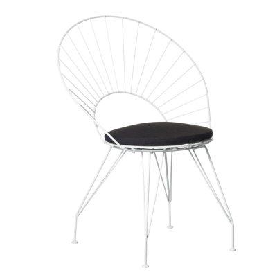 Desirée stol vit med mörk sittdyna