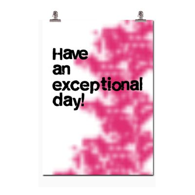 Have an exceptional day poster