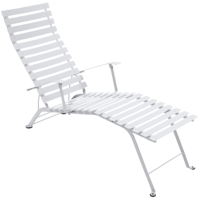 Bistro Chaise Longue cotton white