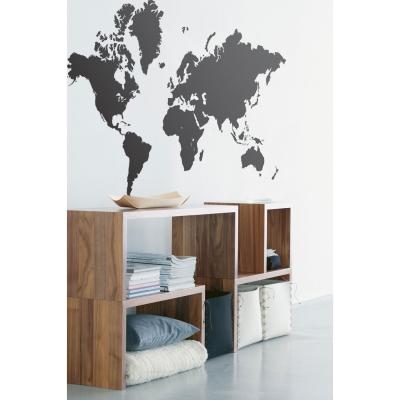 Världskarta wallsticker