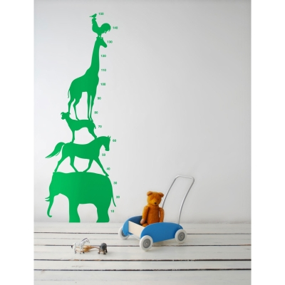 Animal Tower wallsticker grön