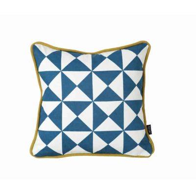 Little Geometry kudde blå