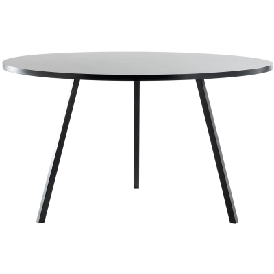 Loop stand round table ø120 svart