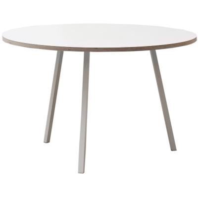 Loop stand round table ø105 vit