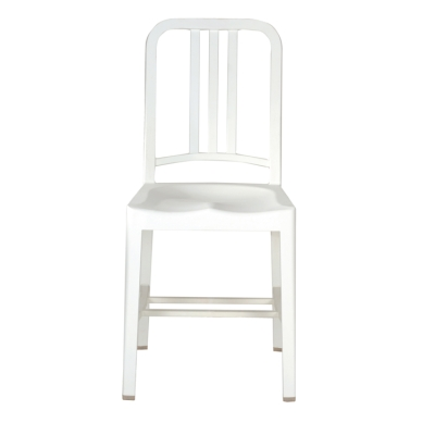 111 Navy Chair snow white