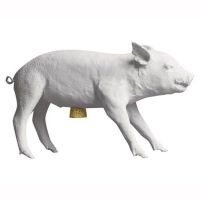 Pig Bank spargris vit