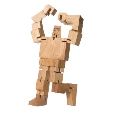 Bild av Cubebot Guthrie träfigur