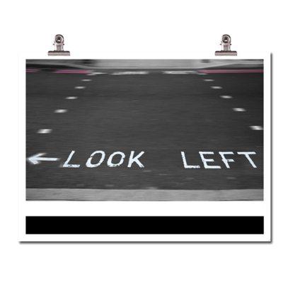 Look left poster
