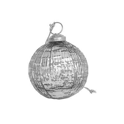 Ornament 1, 4-pack silver