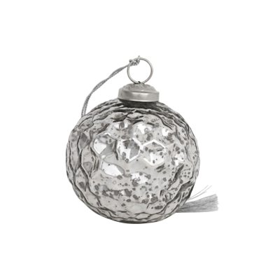 Ornament 3, 4-pack silver