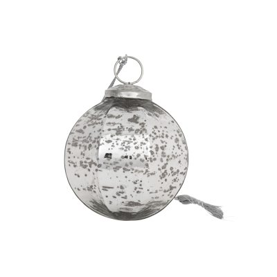 Ornament 4, 4-pack silver